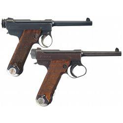 Collector's Lot of Two Japanese Type 14 Nambu Semi-Automatic Pistols