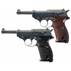 Collector's Lot of Two WWII German P-38 Semi-Automatic Pistols