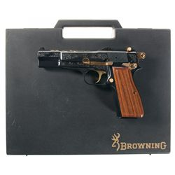 Belgian Browning High Power D Day Commemorative Semi-Automatic Pistol with Case