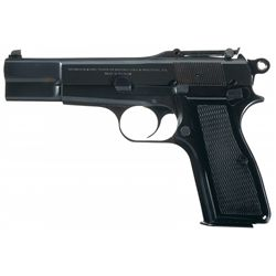 Belgian Browning High Power T-Series Semi-Automatic Pistol with Pouch and Manual