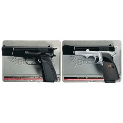 Two Browning Semi-Automatic Pistols with Cases