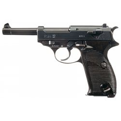 """WWII Walther """"ac/42"""" Code P-38 Semi-Automatic Pistol with Holster and Extra Magazine"""