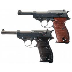 Collectors Lot of Two WWII German P-38 Semi-Automatic Pistols