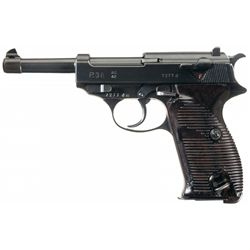 """WWII Walther """"ac/42"""" Code P-38 Pistol with Holster"""