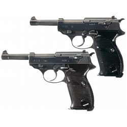 Collector's Lot of Two WWII Nazi Proofed P-38 Semi-Automatic Pistols