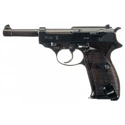 """Walther """"ac/41"""" Code P-38 semi-Automatic Pistol with Matching Magazine"""