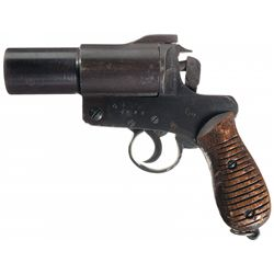 WWII Japanese Type 10 Flare Pistol with Rare Type 10 Holster