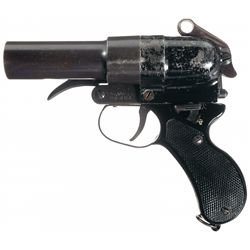 WWII Japanese Double Barrel Flare Pistol with Holster