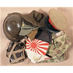 Collection of Military Items, Mostly Imperial Japanese