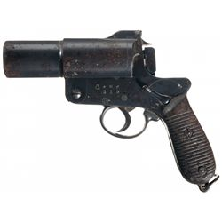 Scarce Japanese Type 10 Flare Pistol with Safety Lever