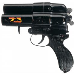 WWII Japanese Three-Barrel Flare Pistol with Holster