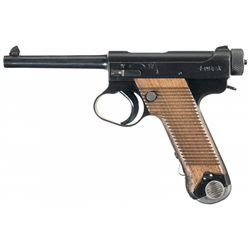 Excellent WWII Japanese Nagoya Type 14 Nambu Pistol with Rubberized Holster and Matching Magazine