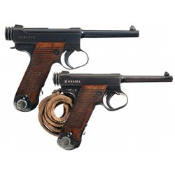 Collector's Lot of Two WWII Japanese Semi-Automatic Pistols