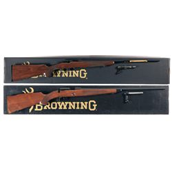 Two Boxed Browning Bolt Action Rifles