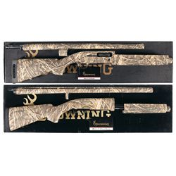 Two Boxed Browning Camouflage Shotguns