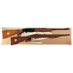 Matched Boxed Set of Two Canadian Centennial Guns