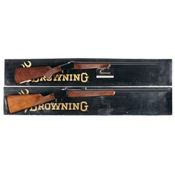 Two Boxed Browning Model 1885 Rifles