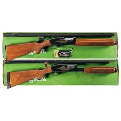 Collector's Lot of Two Boxed Remington Commemorative Shotguns