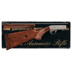 Marechal Engraved Belgian Browning Grade II .22 Semi-Automatic Rifle with Box