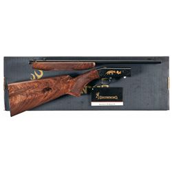 Engraved Gold Accented Browning Grade VI .22 Semi-Automatic Rifle with Box
