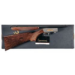 Engraved Browning Grade VI .22 Semi-Automatic Rifle with Box