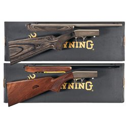 Two Boxed Browning .22 Semi-Automatic Rifles