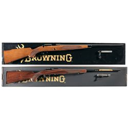 Two Boxed Browning .22 Bolt Action Rifles