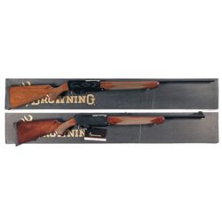 Two Boxed Browning BAR Mark II Semi-Automatic Rifles