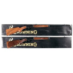 Two Boxed Browning Model 53 Rifles