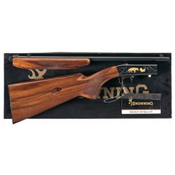 Engraved Gold Inlaid Browning Grade VI .22 Caliber Semi-Automatic Rifle with Box