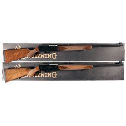 Two Boxed Browning BAR Semi-Automatic Rifles