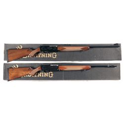 Two Boxed Browning BAR Mark II Safari Semi-Automatic Rifles