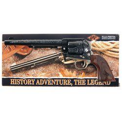 Engraved F.LLI Pietta Model 1873 Single Action Revolver with Box
