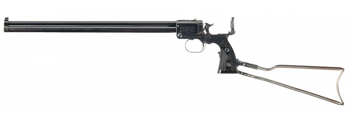 Marble Arms Game Getter Model 1908 Over/Under Folding Stock Pistol