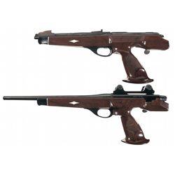 Collector's Lot of Two Remington XP-100 Single Shot Bolt Action Pistols