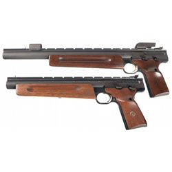 Two Browning Semi-Automatic .22 Silhouette Pistols