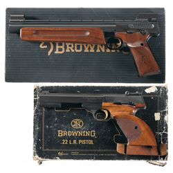 Two Boxed Browning Semi-Automatic Pistols