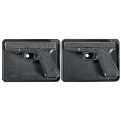 Two Glock Semi-Automatic Pistols with Cases