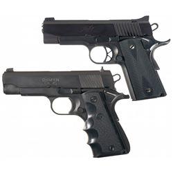 Two Compact 1911 Semi-Automatic Pistols