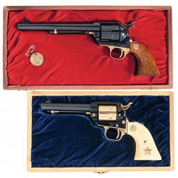 Two Cased Commemorative Colt Single Action Revolvers