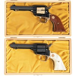 Two Cased Colt Single Action Frontier Scout Commemorative Revolvers