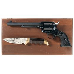 Cased Colt Single Action Army Trans Alaska Pipeline Milepost Commemorative Revolver with Box and Kni