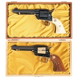 Two Cased Colt Single Action Commemorative Revolvers