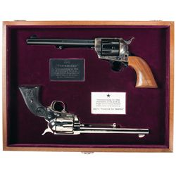 "Cased Colt ""Peacemaker"" and ""Frontier Six Shooter"" Centennial Two Gun Set"