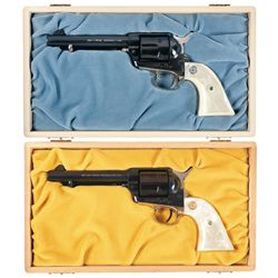 Two Cased Colt Single Action Army Commemorative Revolvers with Boxes