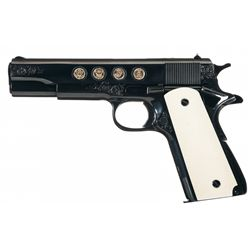 Documented Howard Dove Master Engraved Gold Inlaid Colt Series 70 Government Model Freedom Special S