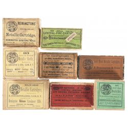 Six Boxes of Vintage Rifle Ammunition and Two Boxes of Vintage Primed Brass Cases