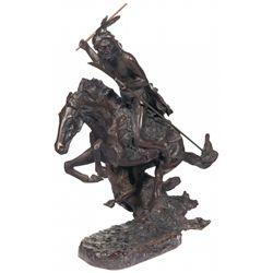 "Frederic Remington's ""Cheyenne"" Bronze Statue"