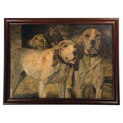 "Framed Henry R. Poore Winchester ""Bear Dog"" Advertisement"