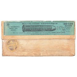 Vintage Box of Winchester 50-110-300 Express Cartridges for Model 1886 Rifle